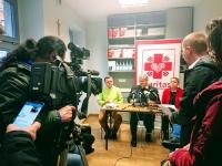 Konferencja prasowa - rok działania łaźni dla bezdomnych